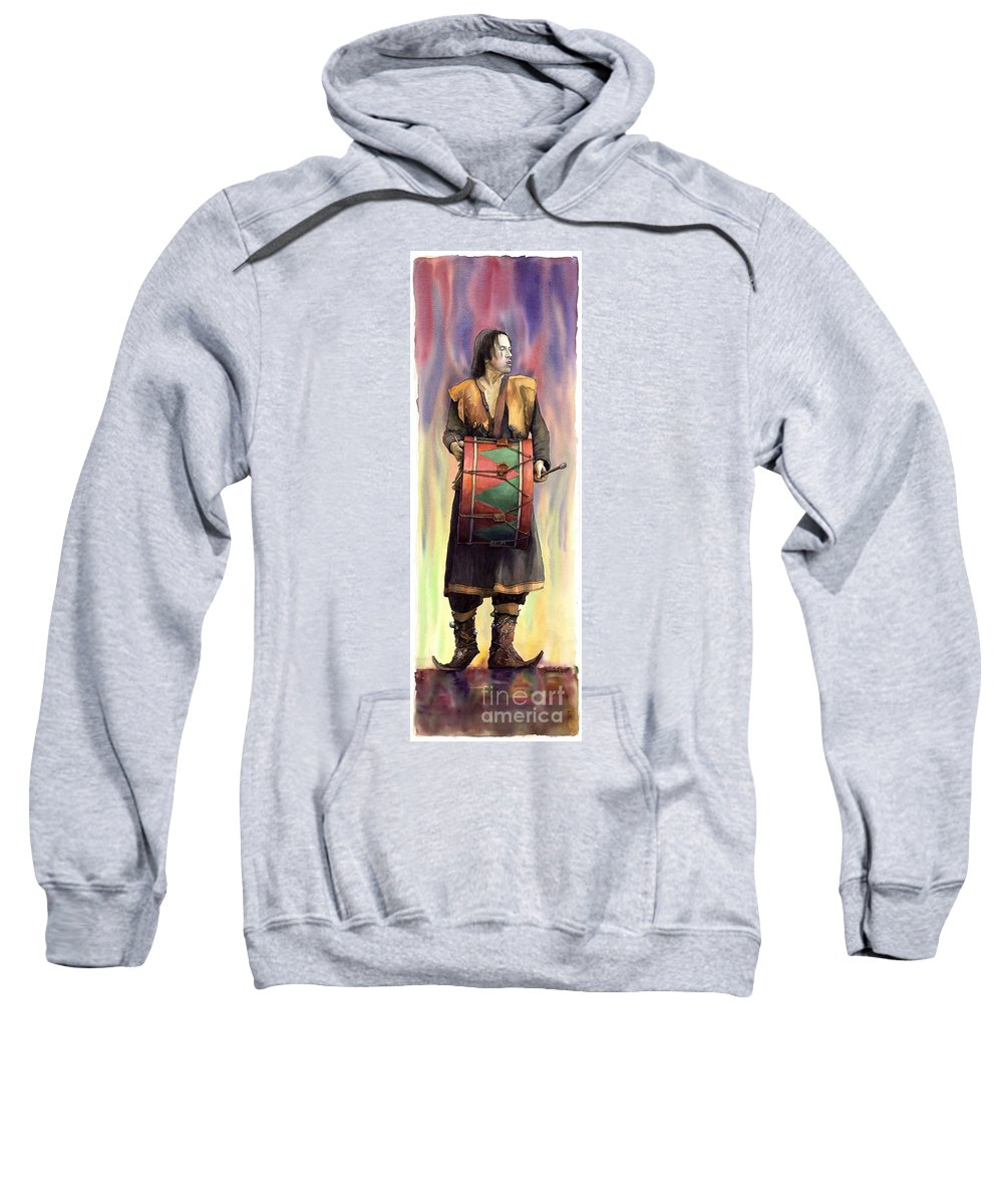 Watercolor Sweatshirt featuring the painting Varius Coloribus Abul by Yuriy Shevchuk