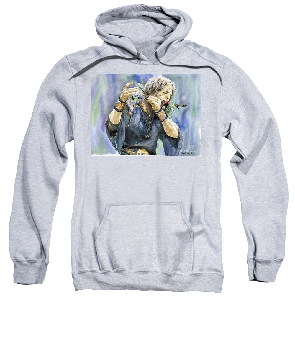 Watercolor Sweatshirt featuring the painting Varius Coloribus by Yuriy Shevchuk