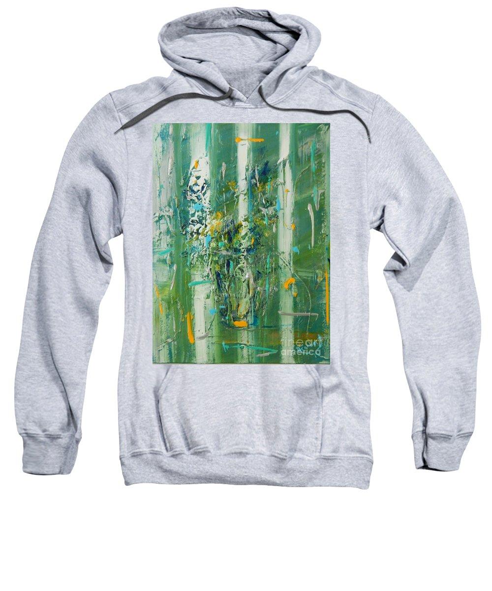 Modern Sweatshirt featuring the painting Vase De Sauge by Lorenz Brochert