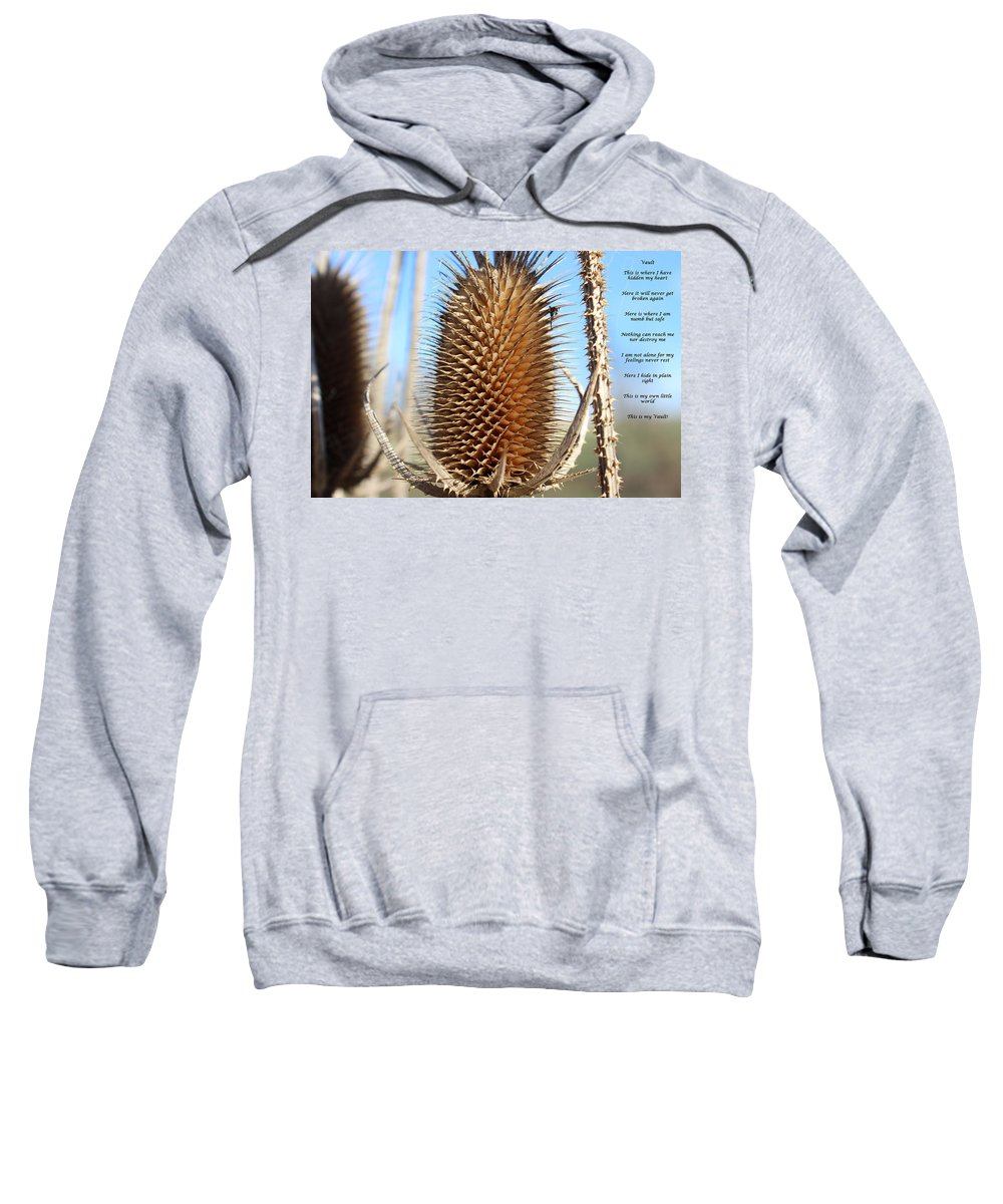 Love Sweatshirt featuring the mixed media Vault by Cliff Ball