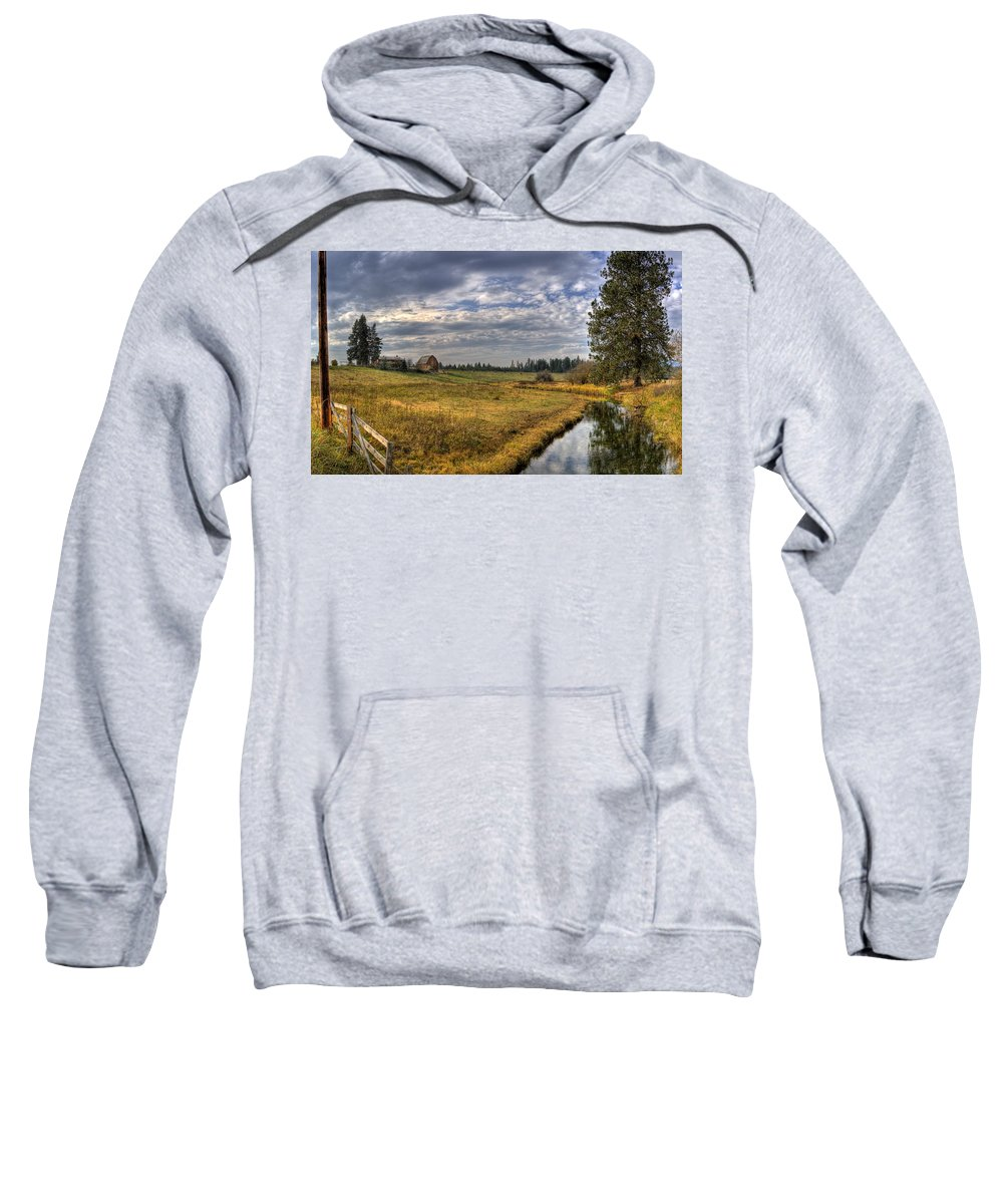 Hdr Sweatshirt featuring the photograph Vay Road Ditch 3 by Lee Santa