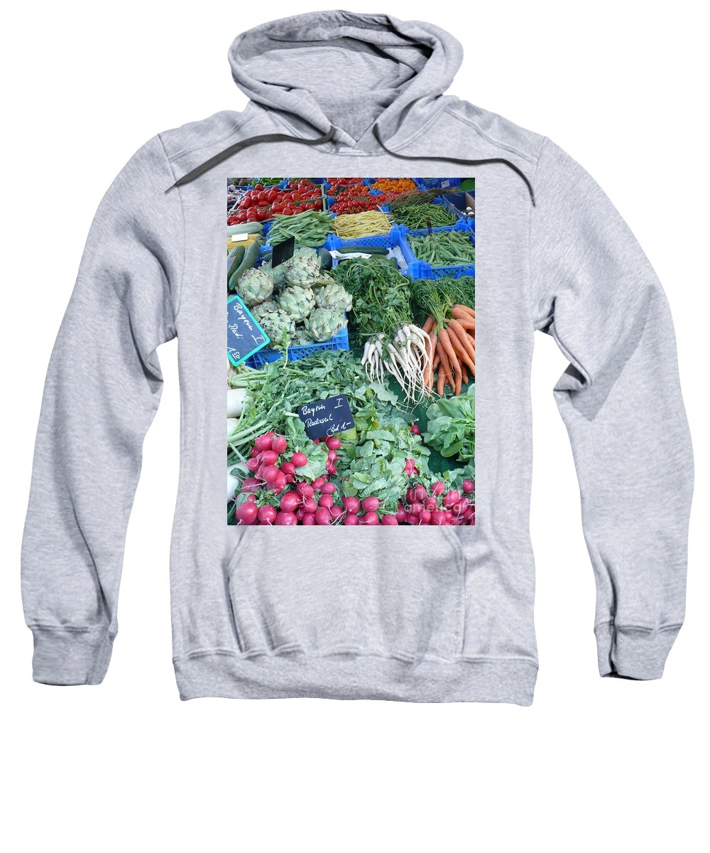 European Markets Sweatshirt featuring the photograph Vegetables At German Market by Carol Groenen
