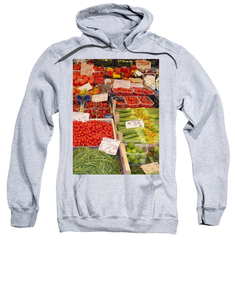 European Markets Sweatshirt featuring the photograph Vegetables At Italian Market by Carol Groenen