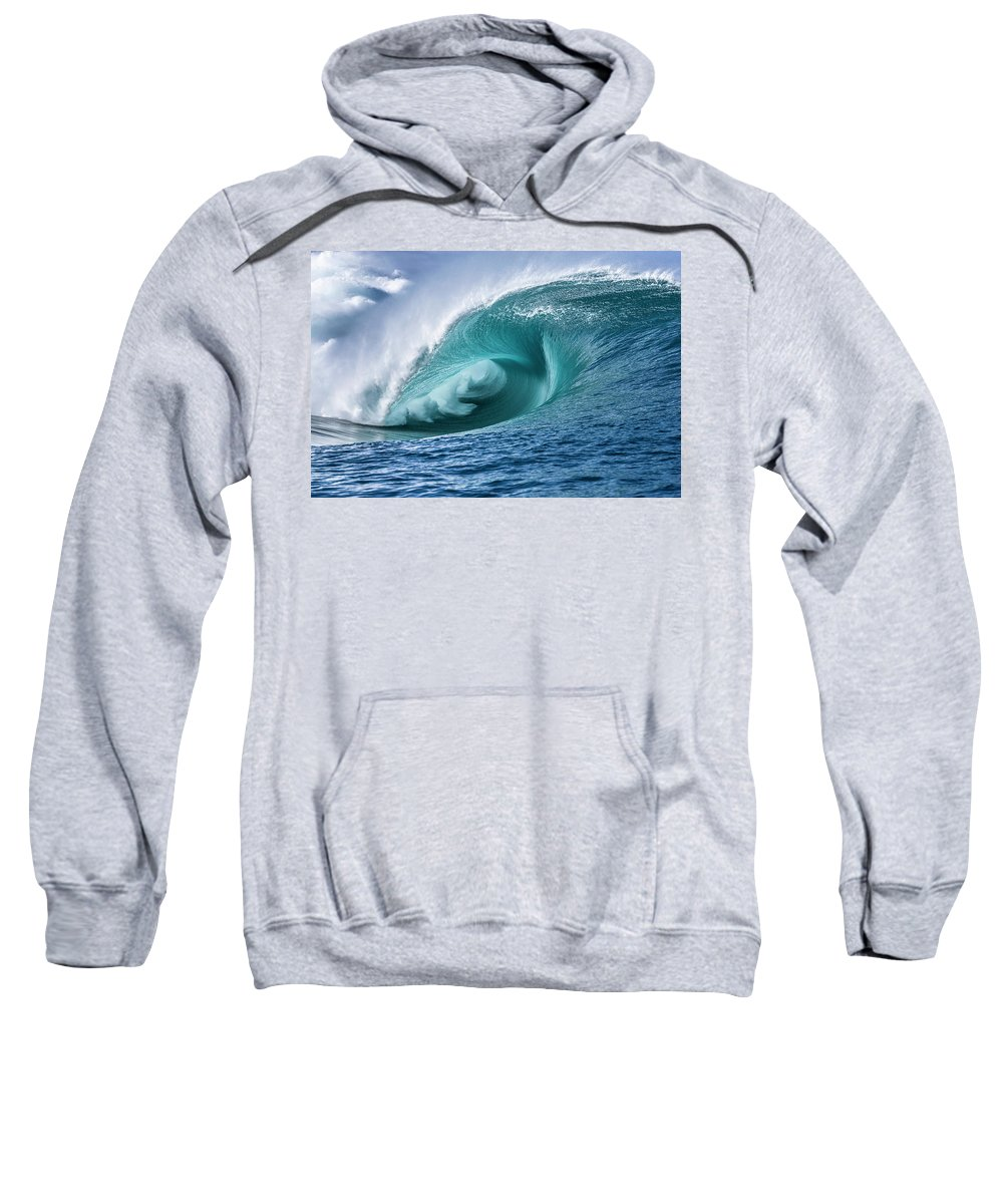 Surf Art Sweatshirt featuring the photograph Velocity Curl by Sean Davey