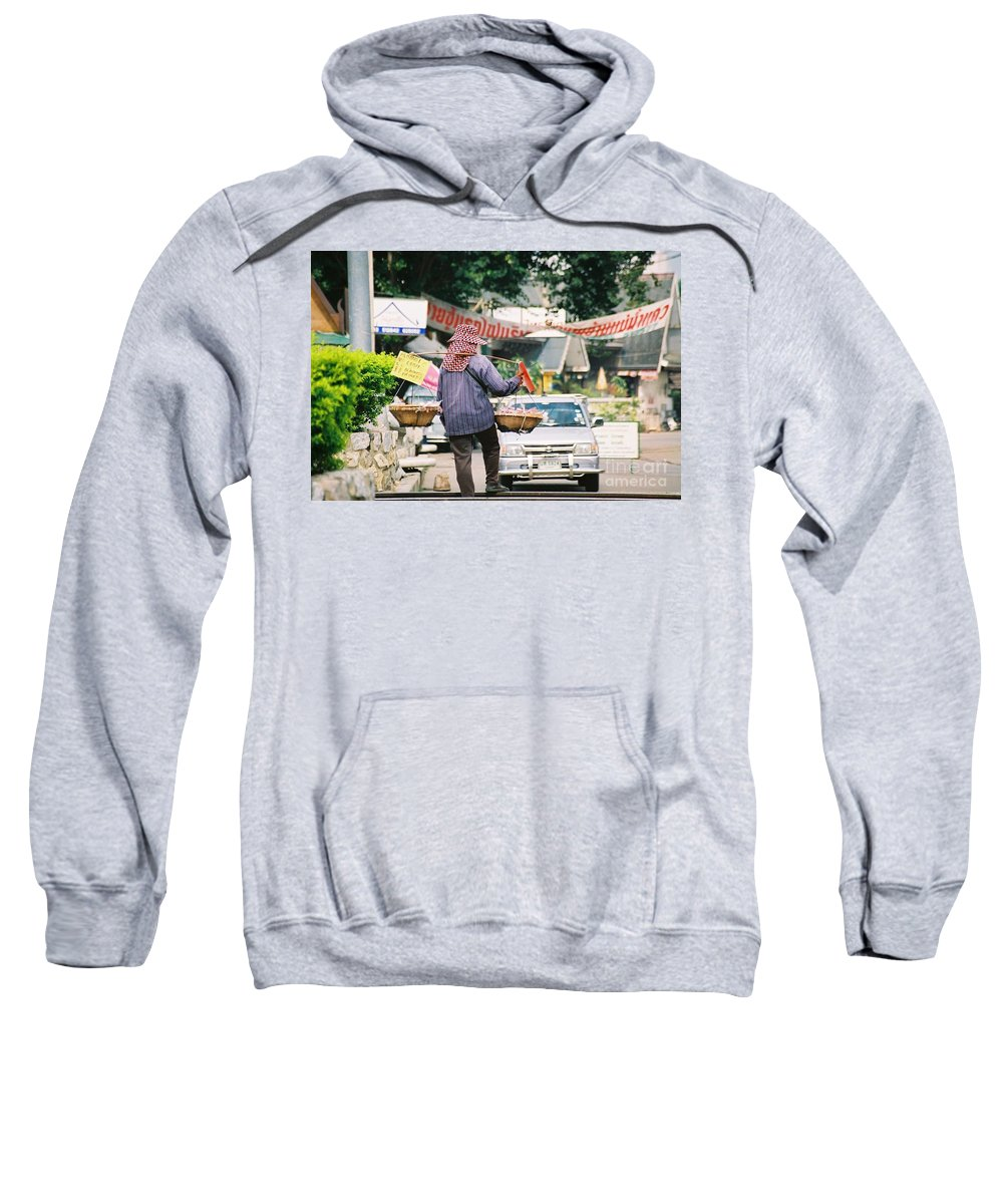 Sales Sweatshirt featuring the photograph Vendor by Mary Rogers