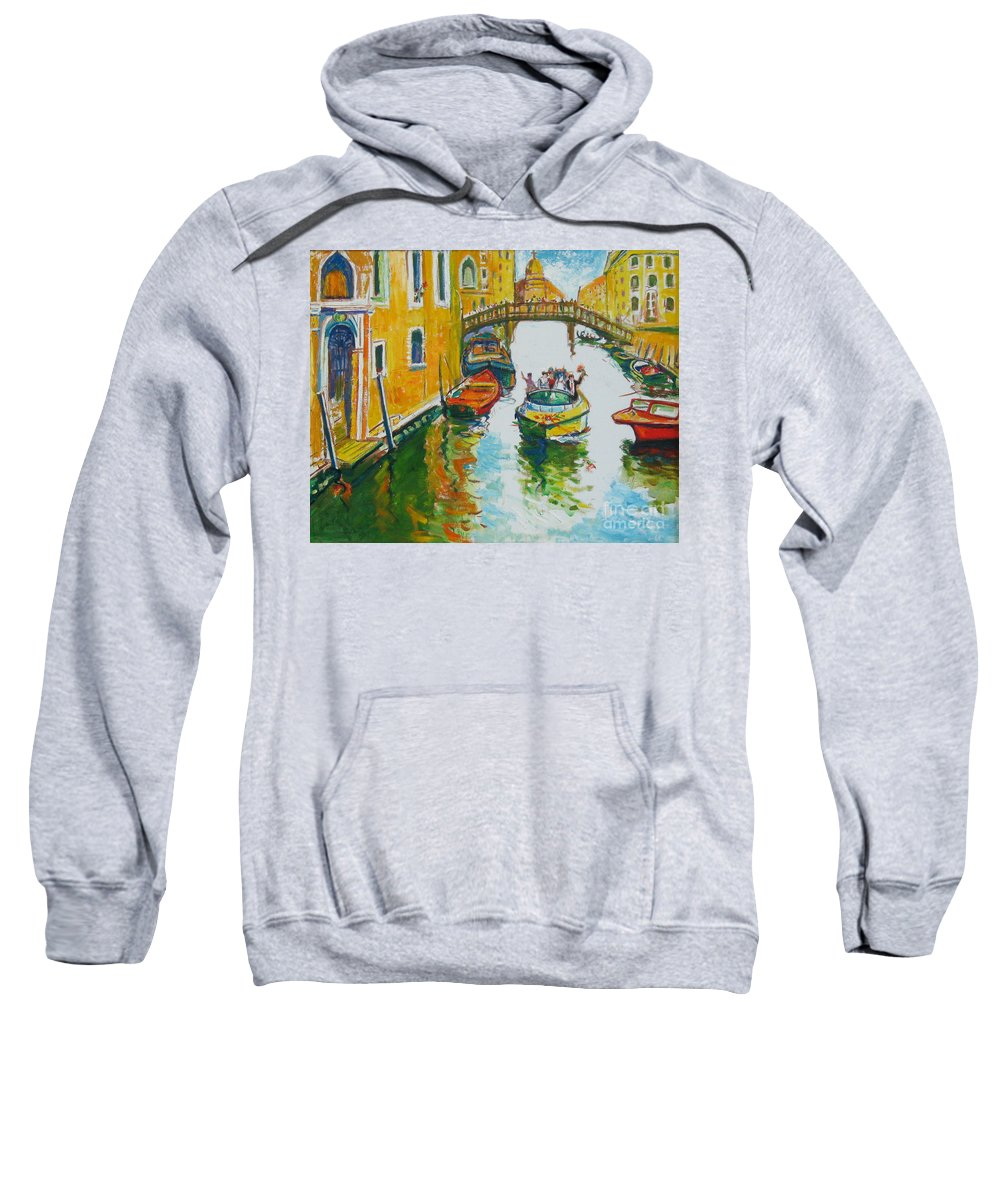 Venice Sweatshirt featuring the painting Venice by Guanyu Shi