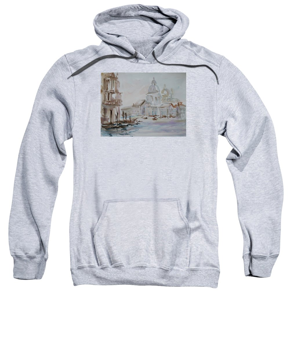 Venice Sweatshirt featuring the painting Venice Impression Vi by Xueling Zou