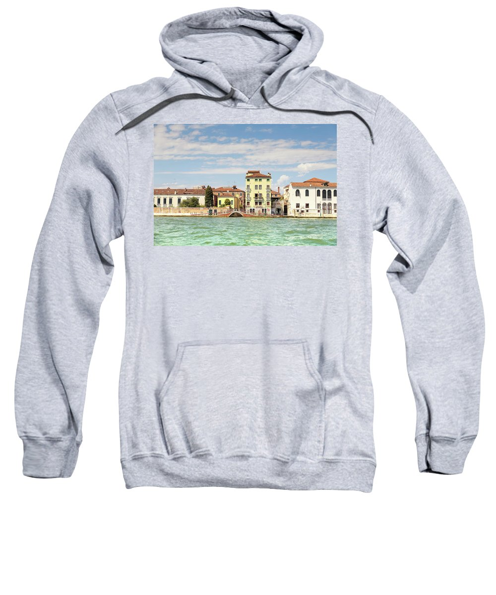 Elena Seychelles Sweatshirt featuring the photograph Venice In Summer by Elena Seychelles