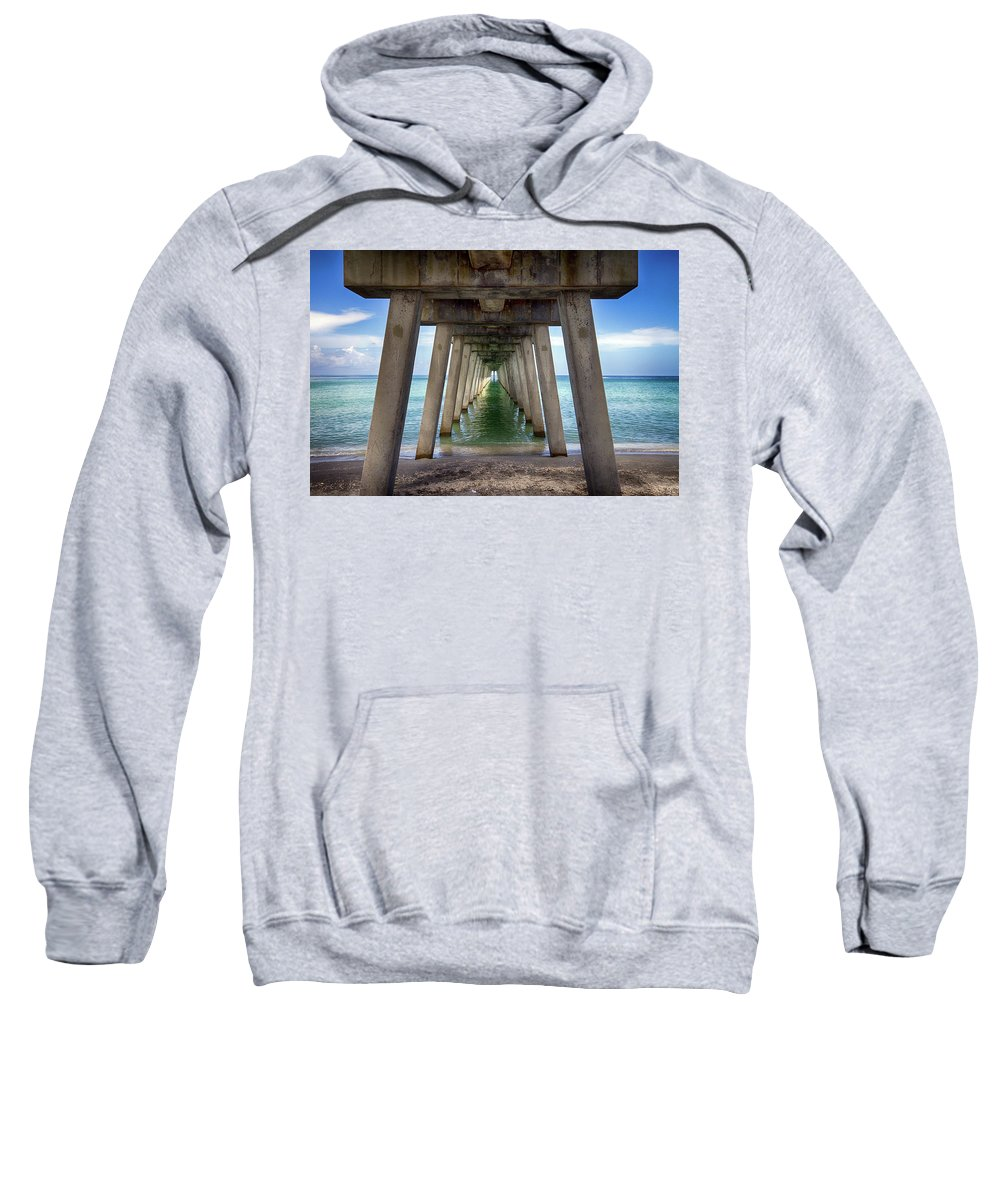 Pier Sweatshirt featuring the photograph Venice Pier by Charlie Grindrod