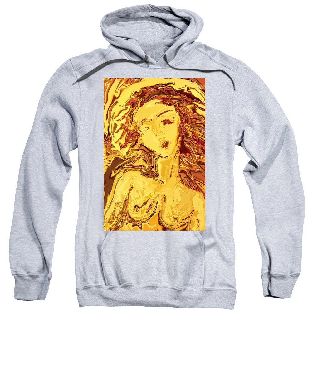 Sweatshirt featuring the digital art Venus 2008 by Rabi Khan