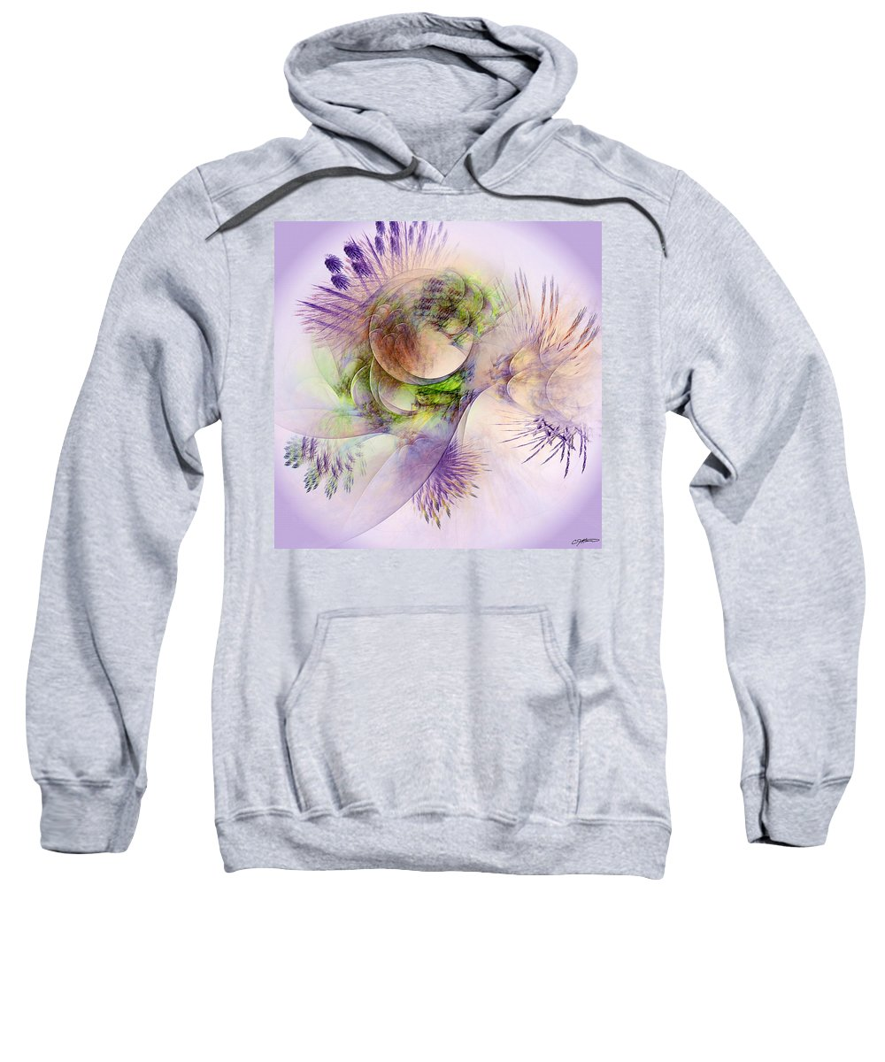 Abstract Sweatshirt featuring the digital art Venusian Microcosm by Casey Kotas