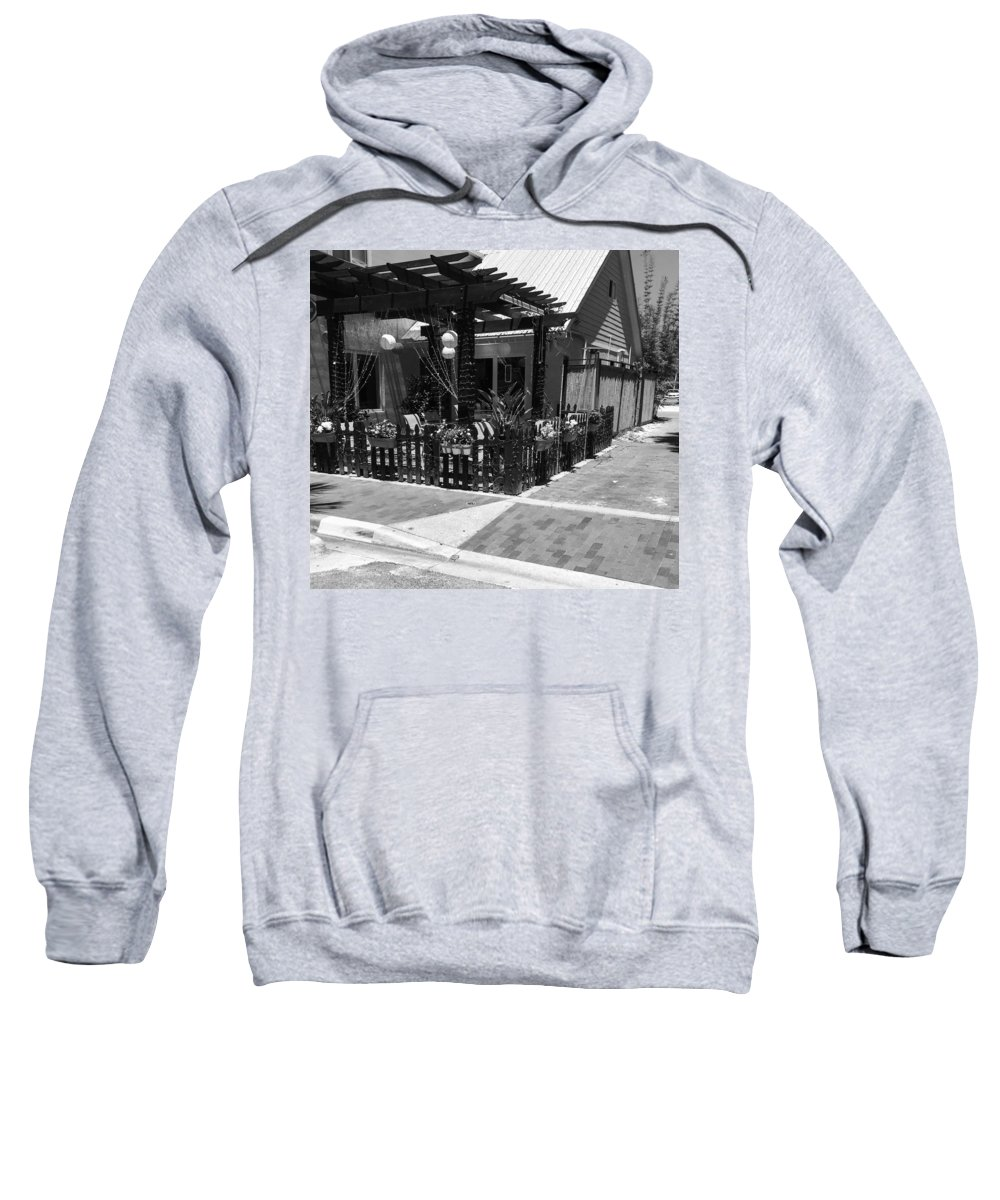 Black And White Sweatshirt featuring the photograph Veranda by Kendall Tabor