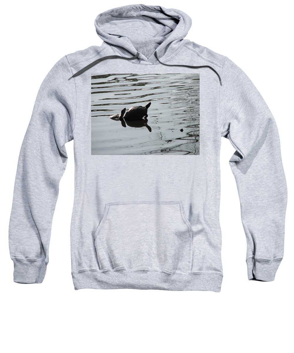 Turtle Sweatshirt featuring the photograph Vereen Turtles by Kelly Mezzapelle