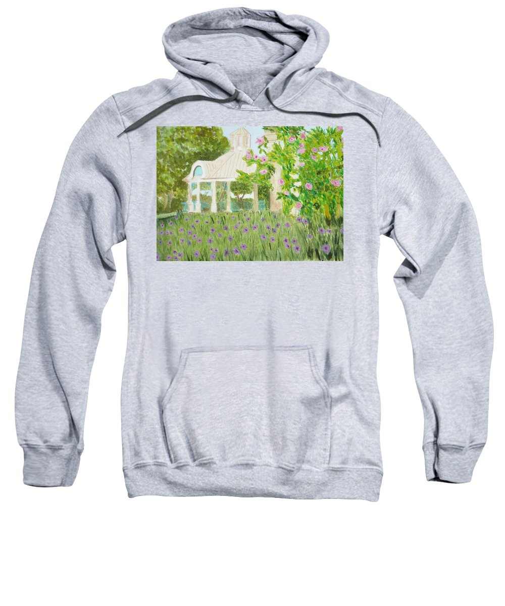 Park Sweatshirt featuring the painting Veteran's Park by Donna Walsh