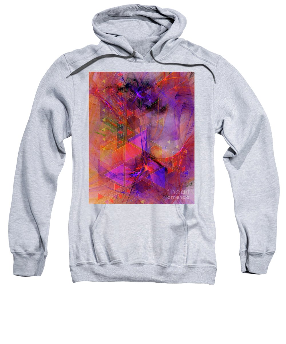 Vibrant Echoes Sweatshirt featuring the digital art Vibrant Echoes by John Beck