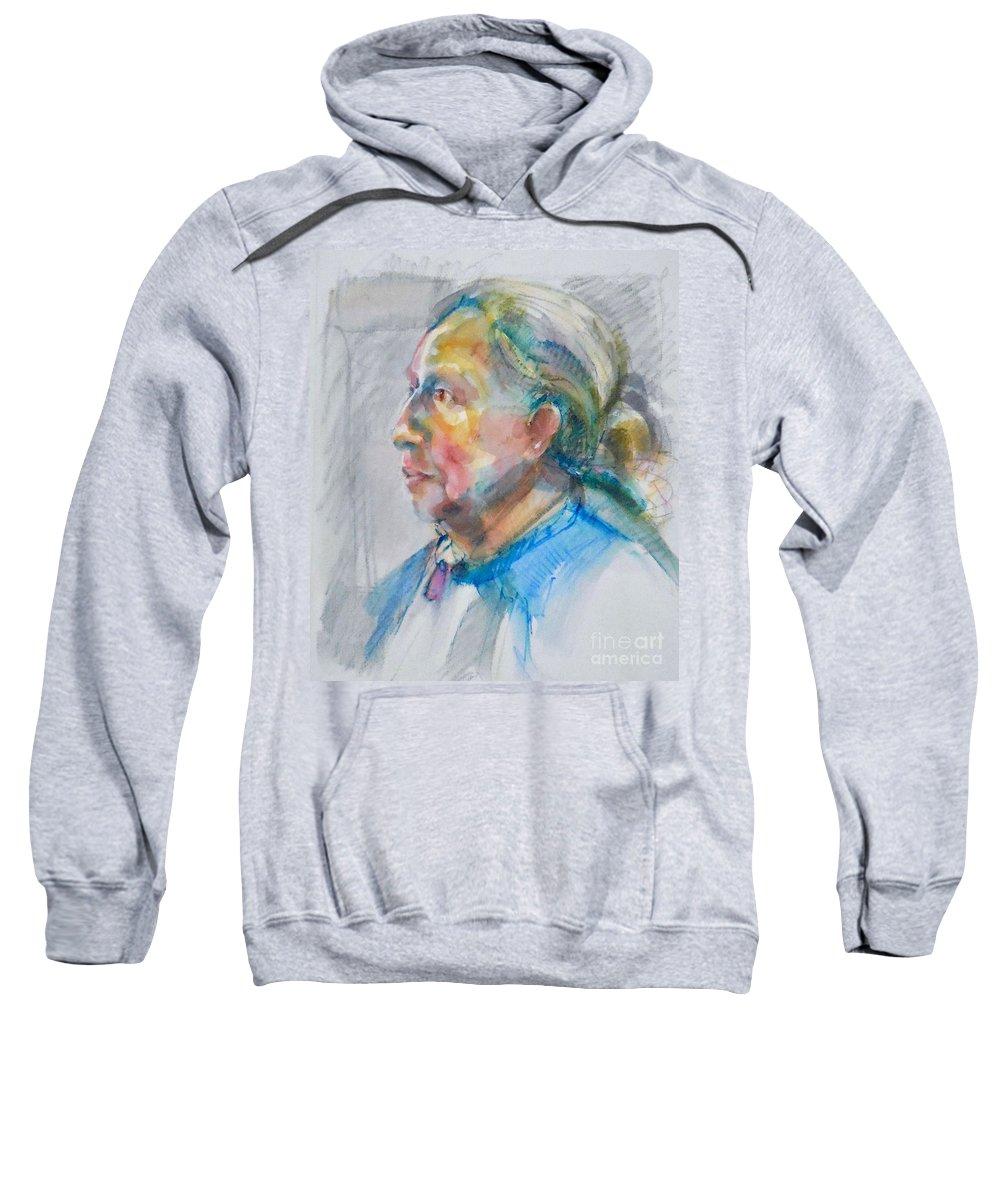 Victoria Sweatshirt featuring the painting Victoria by Deborah Roskopf
