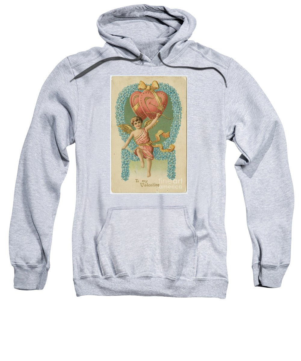 Victorian Cupid Sweatshirt featuring the painting Victorian Cupid by Pd