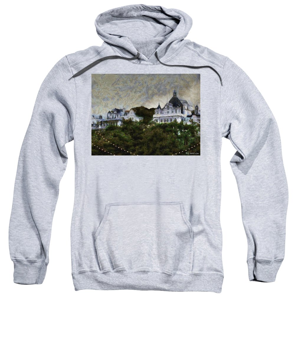 Buildings Sweatshirt featuring the painting Victoria's Diamond Jubilee by RC DeWinter