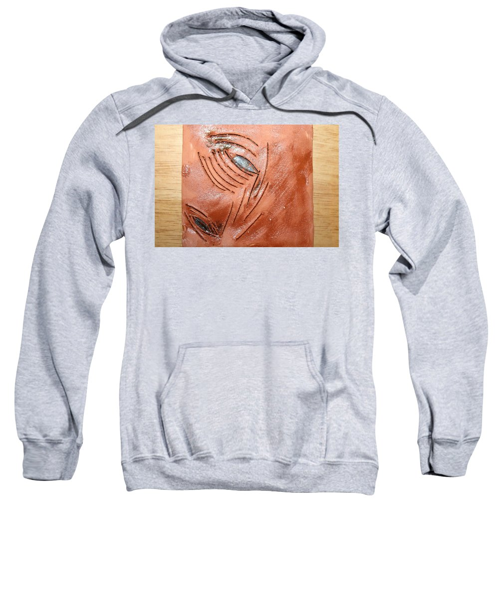Jesus Sweatshirt featuring the ceramic art View - Tile by Gloria Ssali