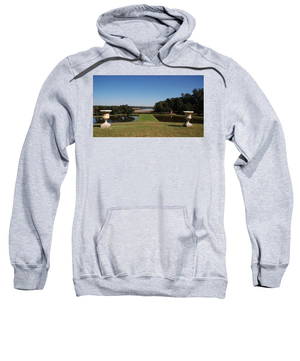 Photography Sweatshirt featuring the photograph View Down To The Ashley River At Middleton Place Plantation Charleston by Susanne Van Hulst