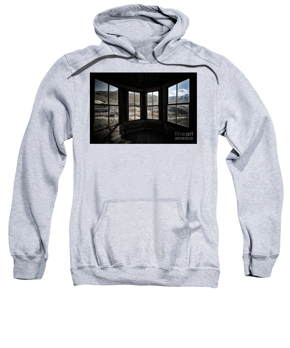 Animas Forks Sweatshirt featuring the photograph View From Animas Forks by Doug Sturgess