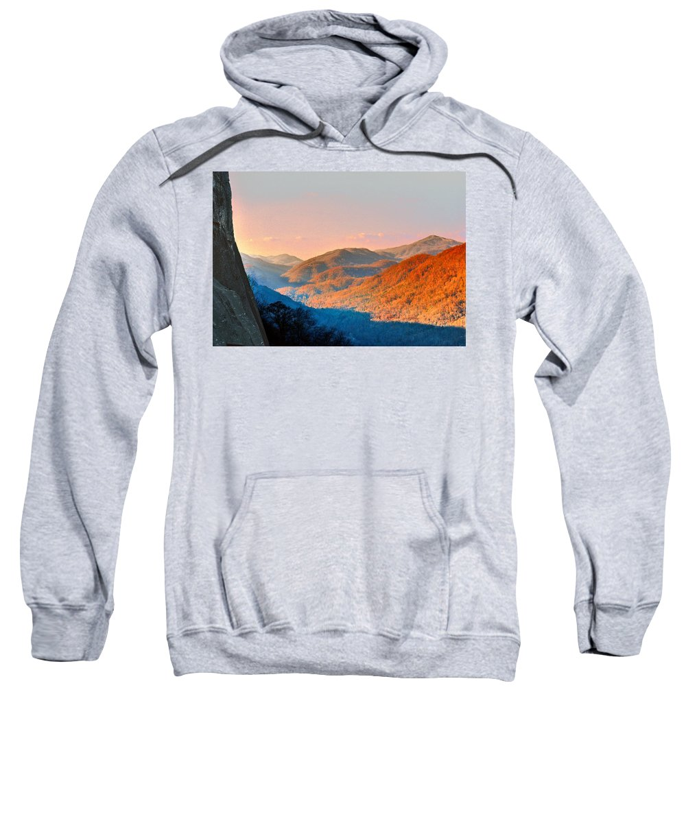 Landscape Sweatshirt featuring the photograph View From Chimney Rock-north Carolina by Steve Karol