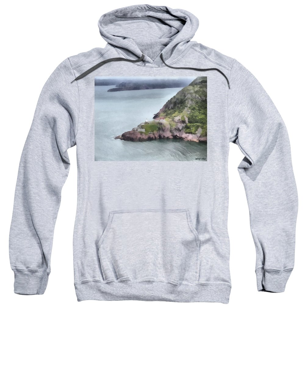 Canadian Sweatshirt featuring the painting View From Signal Hill by Jeffrey Kolker