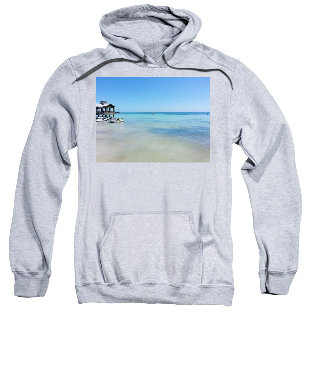 Key West Sweatshirt featuring the photograph View From South Beach In Key West by William Slider