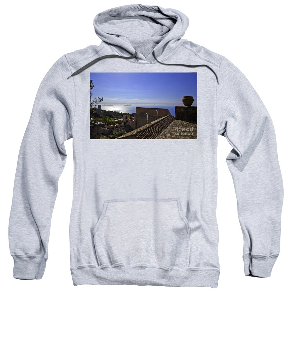 Rooftop Sweatshirt featuring the photograph View From The Top In Sicily by Madeline Ellis