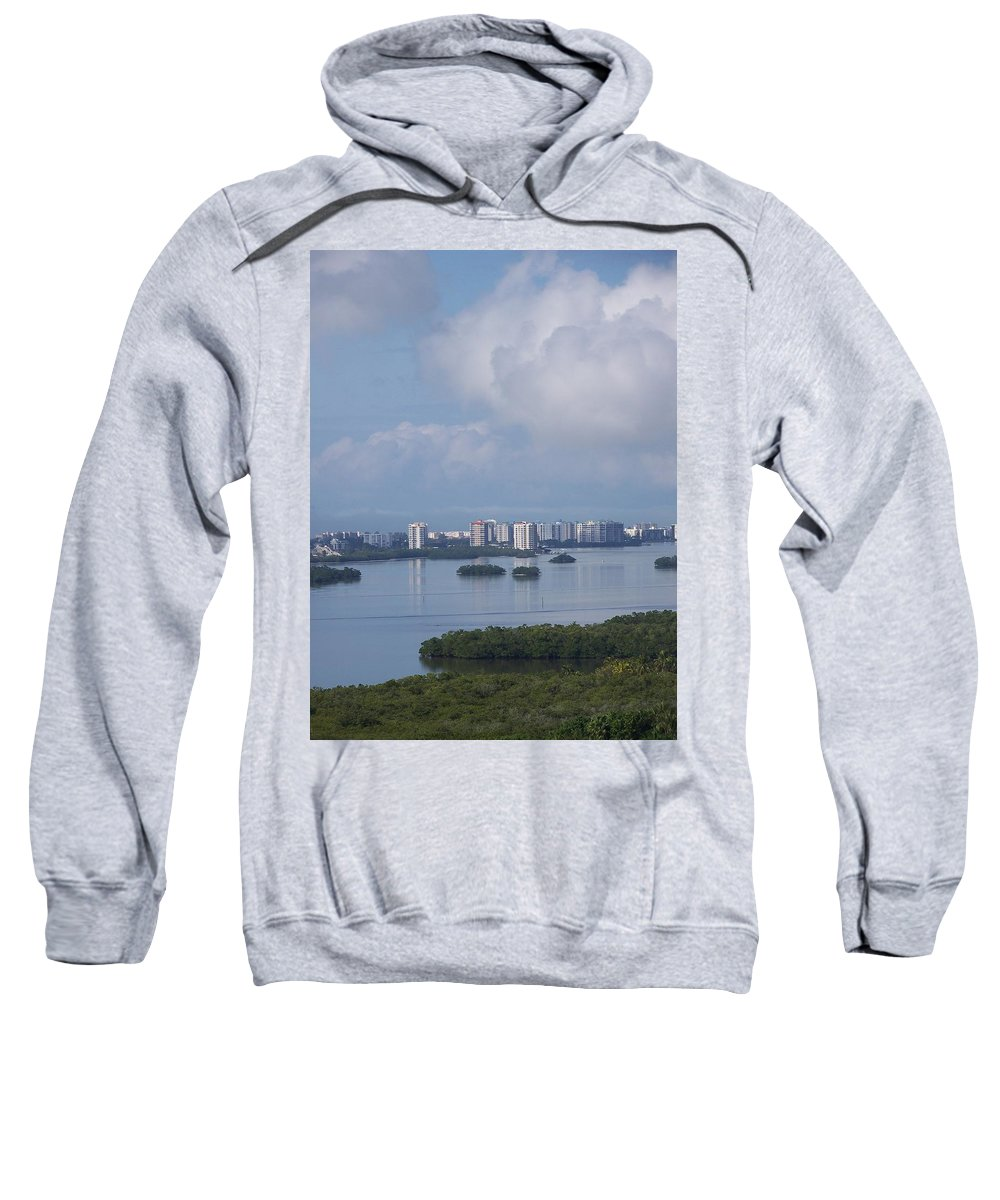 Fort Myers Beach Sweatshirt featuring the photograph View Of Fort Myers Beach by Laurie Paci