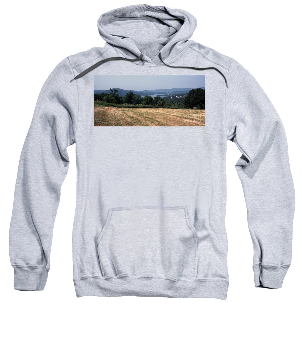 Lake Waramaug Sweatshirt featuring the photograph View Of Lake Waramaug by Richard Rizzo