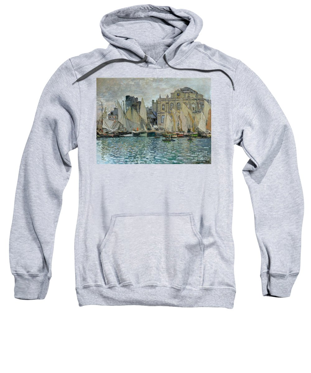 View Of Le Havre Sweatshirt featuring the painting View Of Le Havre by Claude Monet