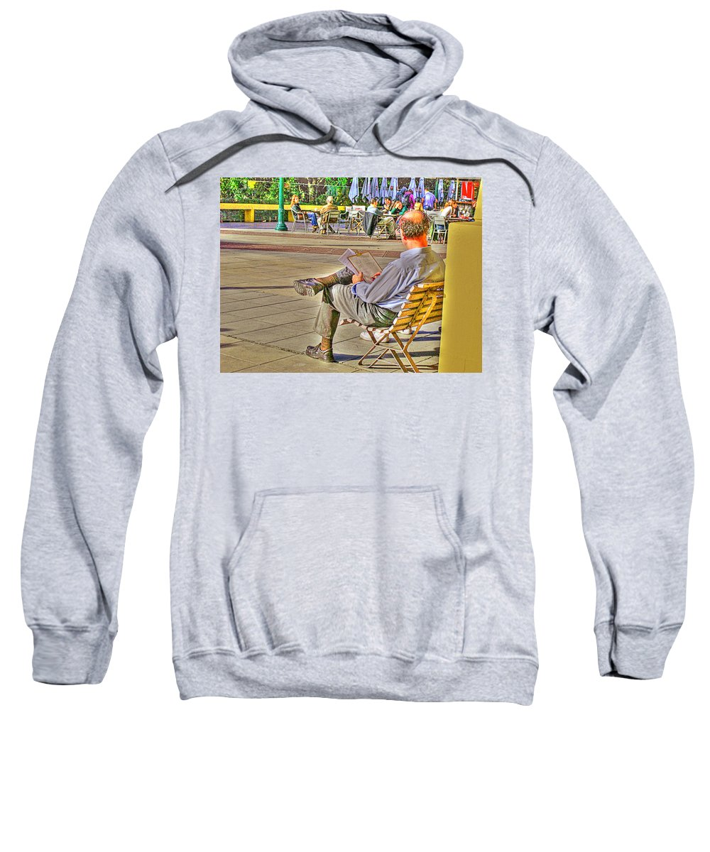 Park Sweatshirt featuring the photograph Viewing Man by Francisco Colon