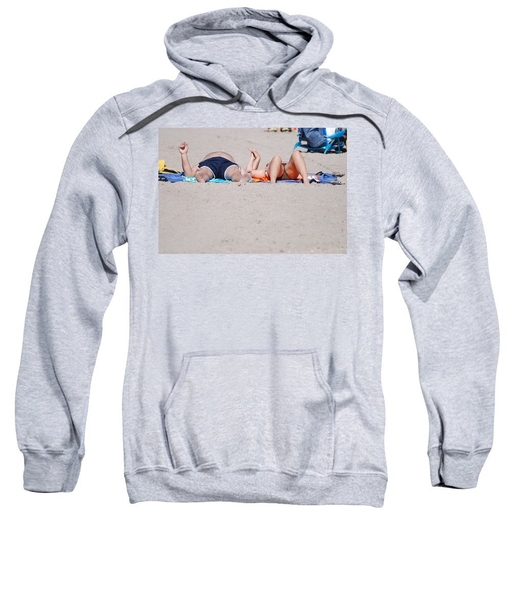 People Sweatshirt featuring the photograph Views At The Beach by Rob Hans