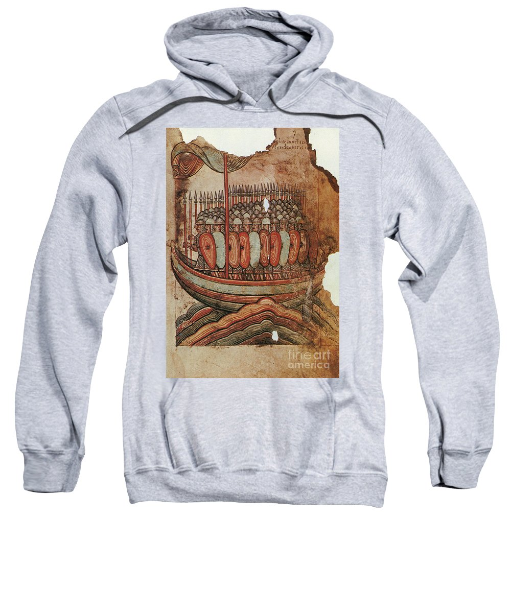 910s Sweatshirt featuring the painting Viking Invasion 919 by Granger