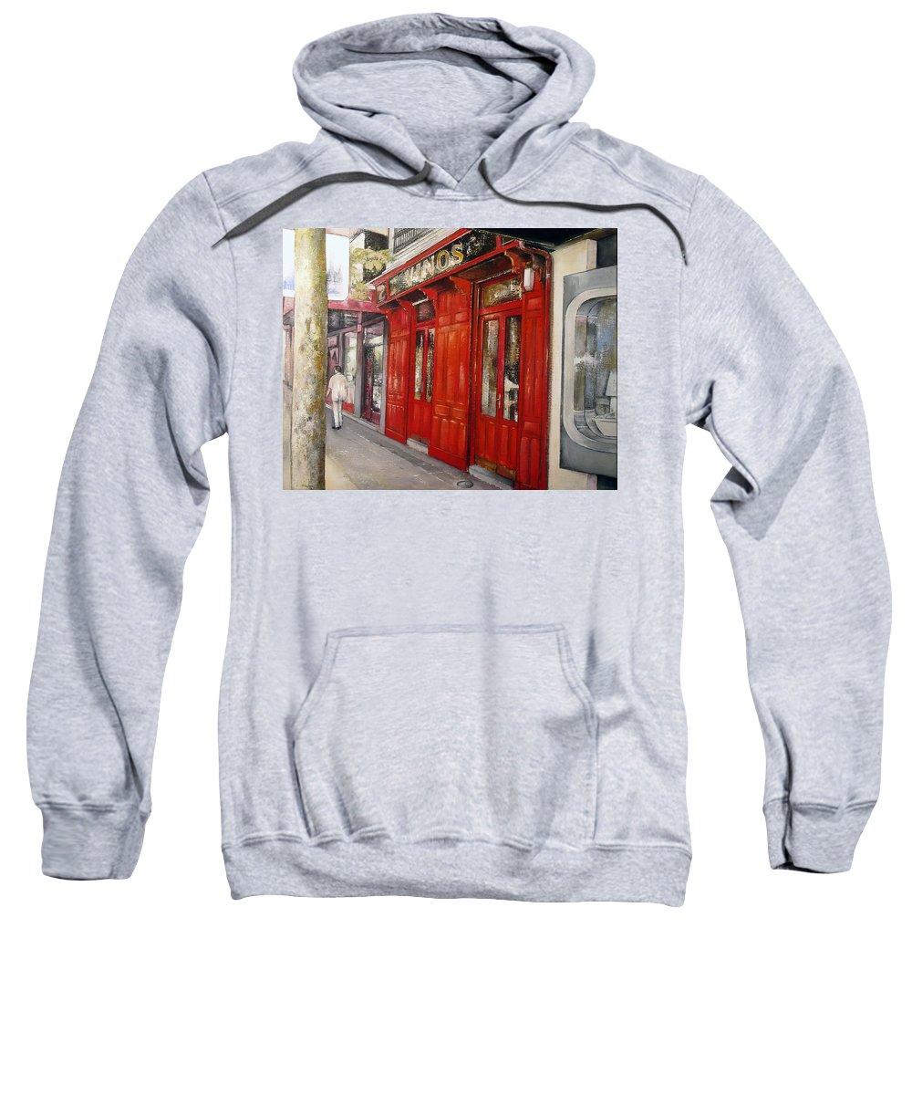 Urban Sweatshirt featuring the painting Vinos Sagasta by Tomas Castano