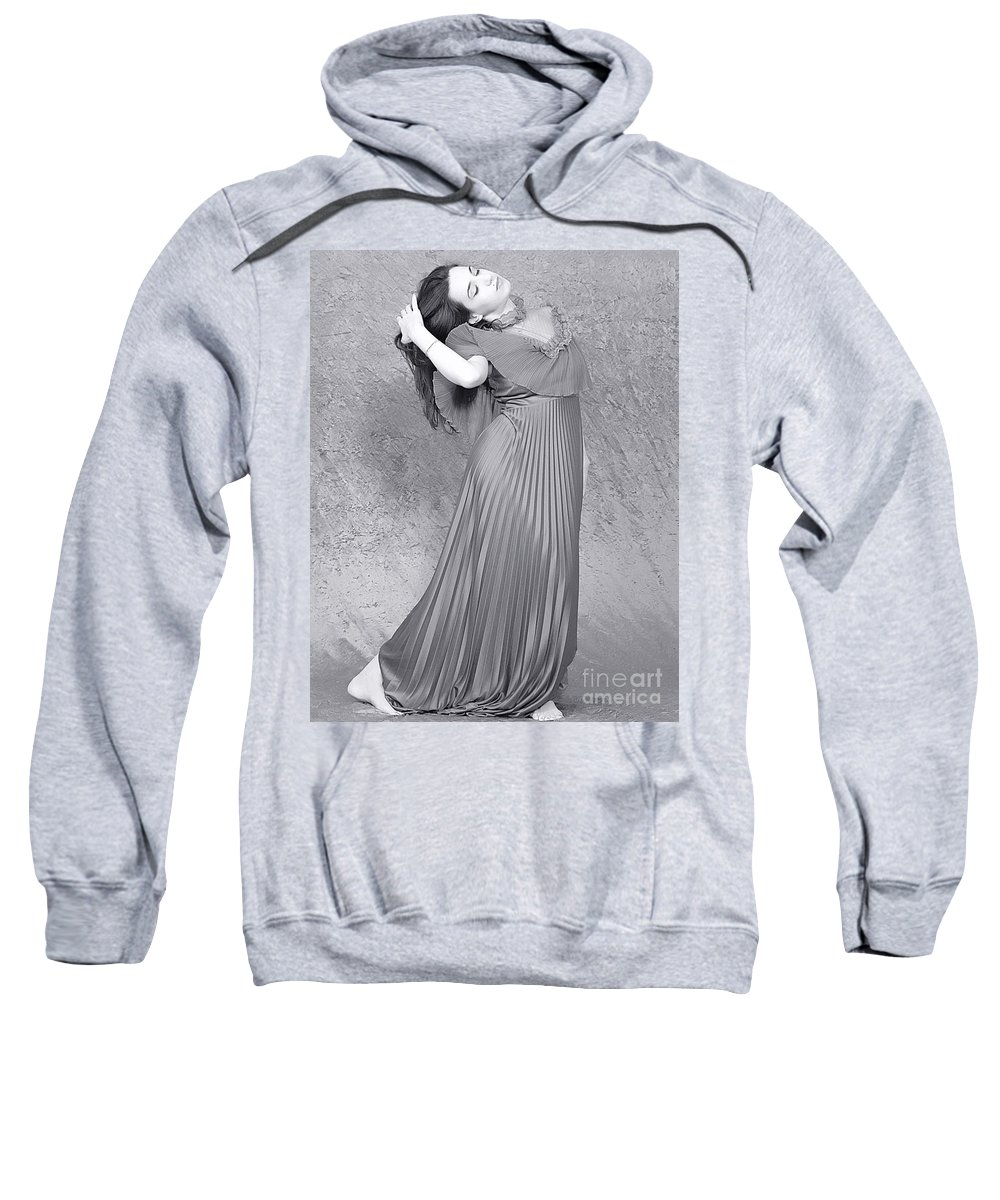 Clay Sweatshirt featuring the photograph Vintage Black And White by Clayton Bruster