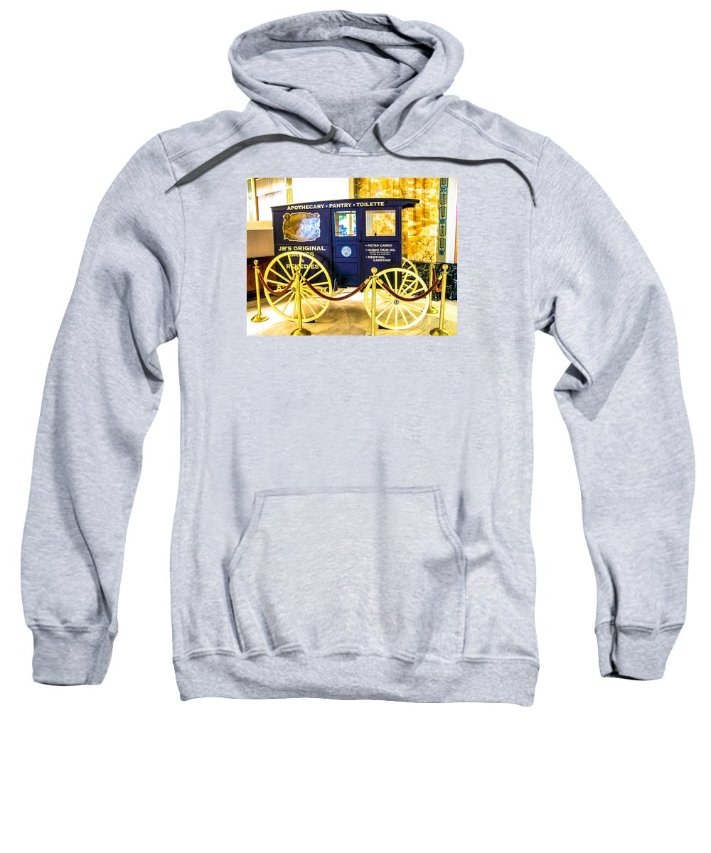 Antique Sweatshirt featuring the photograph Vintage Delivery Wagon by Tom Zukauskas
