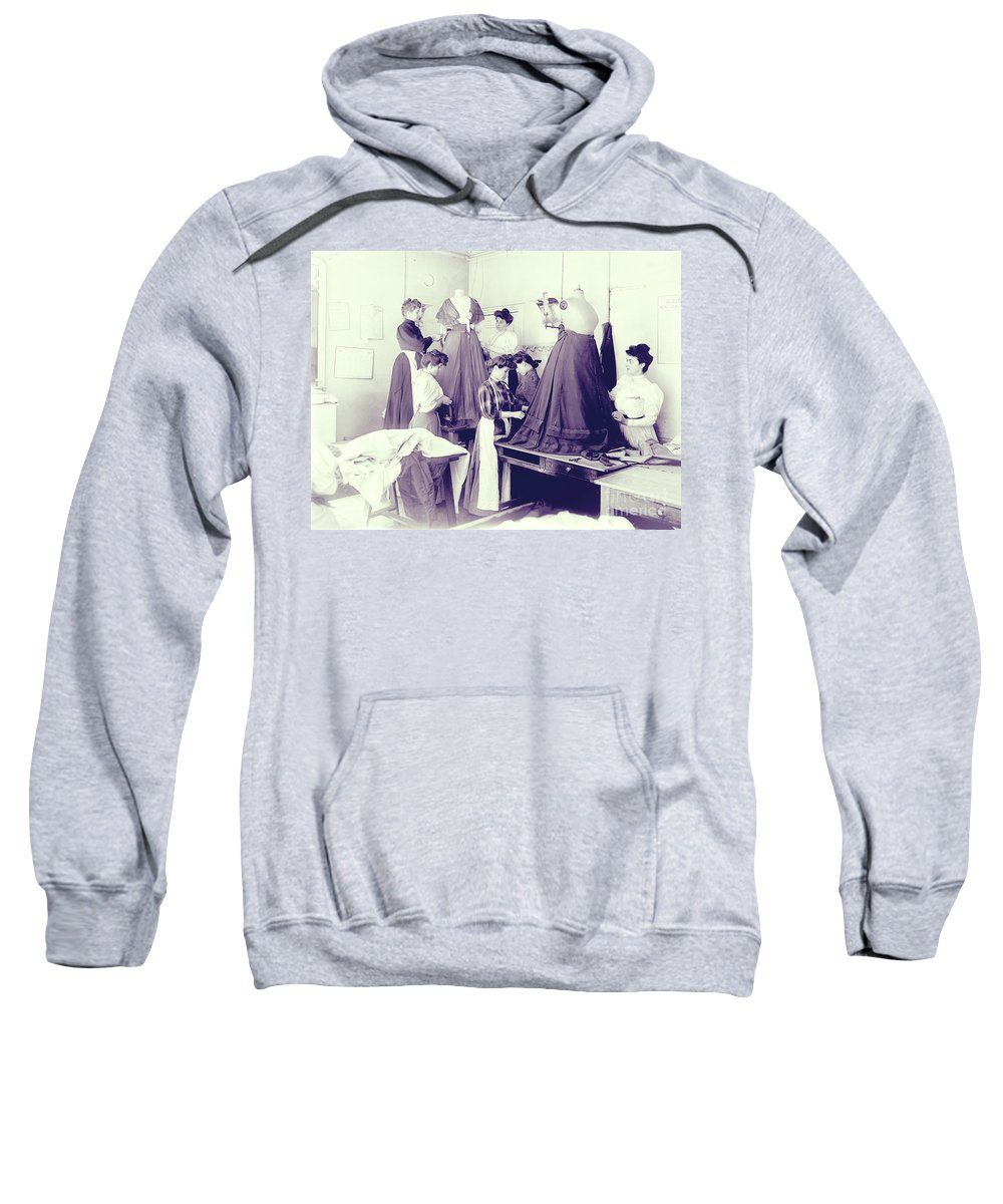 Vintage Seamstress Sweatshirt featuring the photograph Vintage Dressmakers by Mindy Sommers