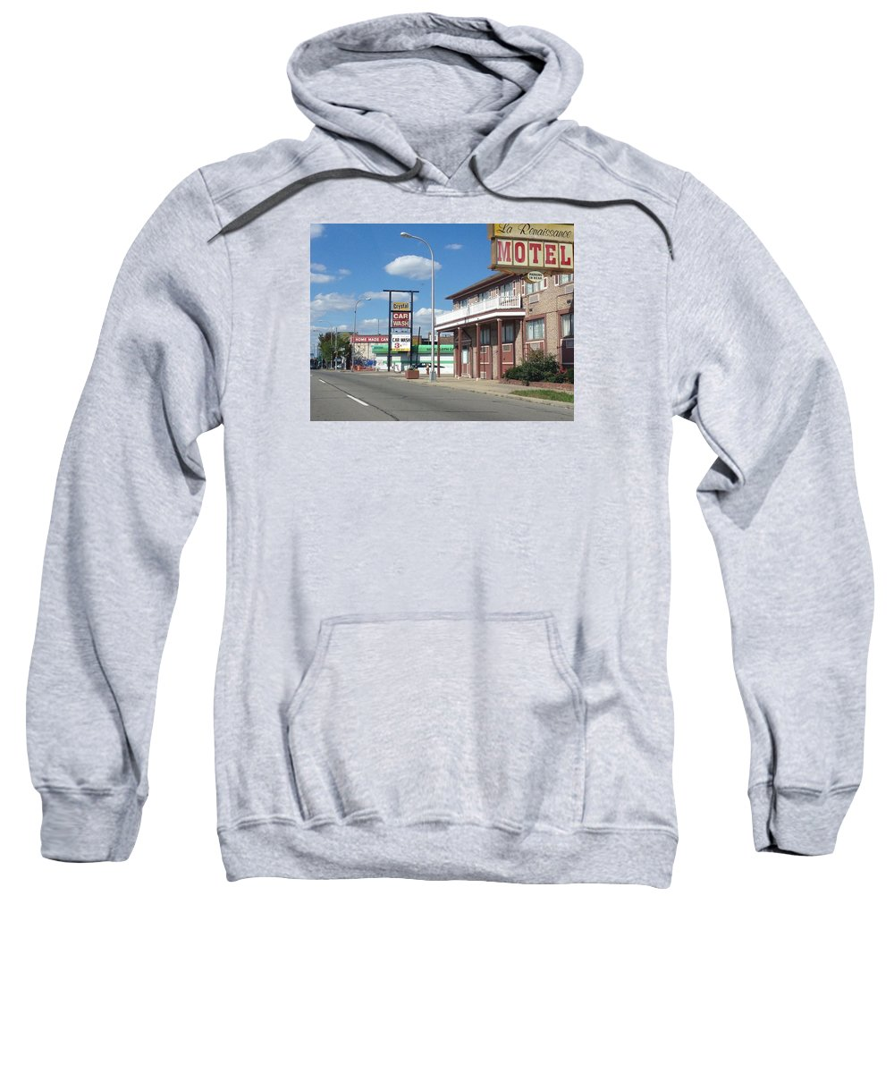 Detroit Sweatshirt featuring the digital art Vintage by Jim Richardson