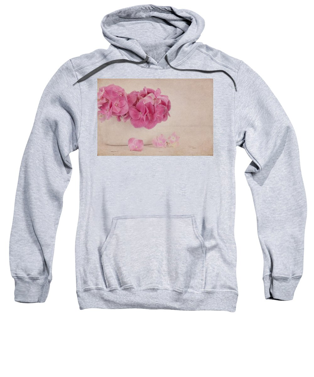 Hydrangea Sweatshirt featuring the photograph Vintage Pink Hydrangea by Kim Hojnacki