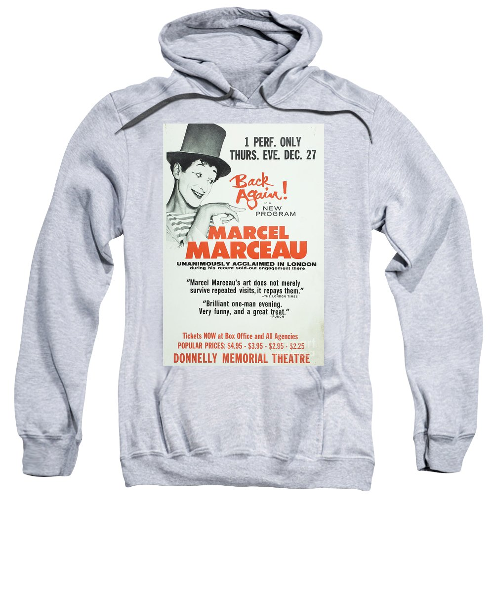 Vintage Posters Sweatshirt featuring the photograph Vintage Show Poster Marcel Marceau by Edward Fielding