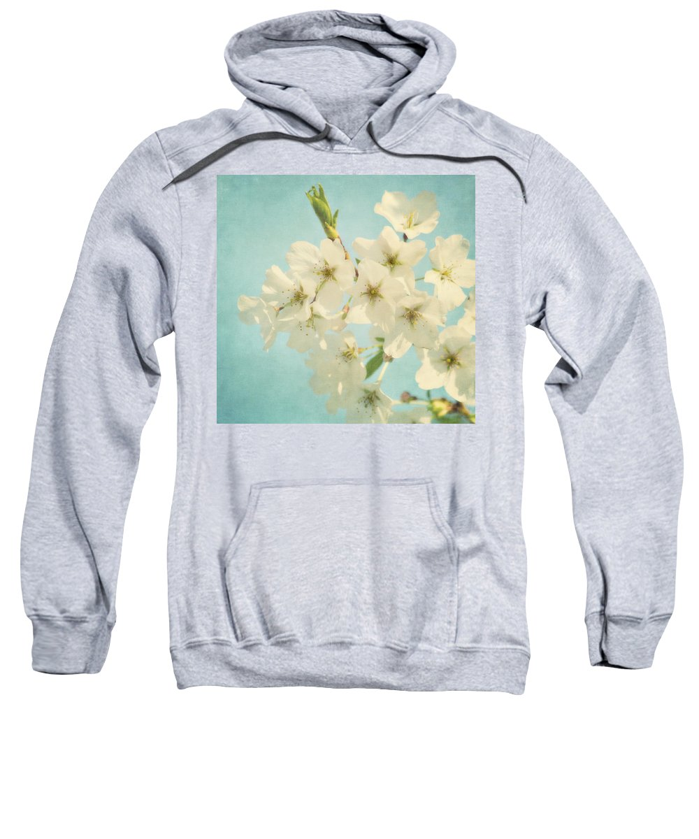 Flower Sweatshirt featuring the photograph Vintage Spring Blossoms by Kim Hojnacki
