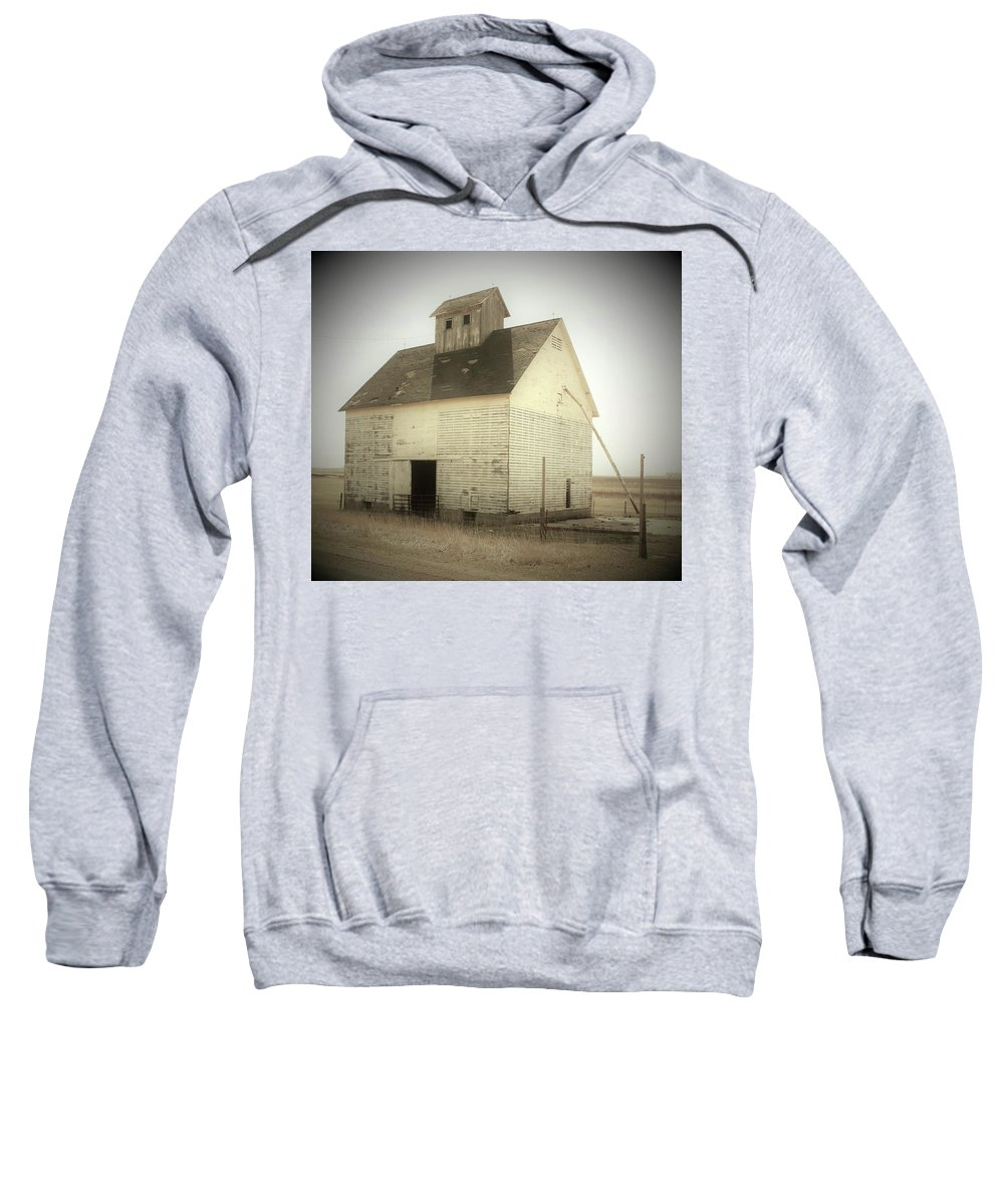 Corn Crib Sweatshirt featuring the photograph Vintage White Corn Crib by Toni Grote