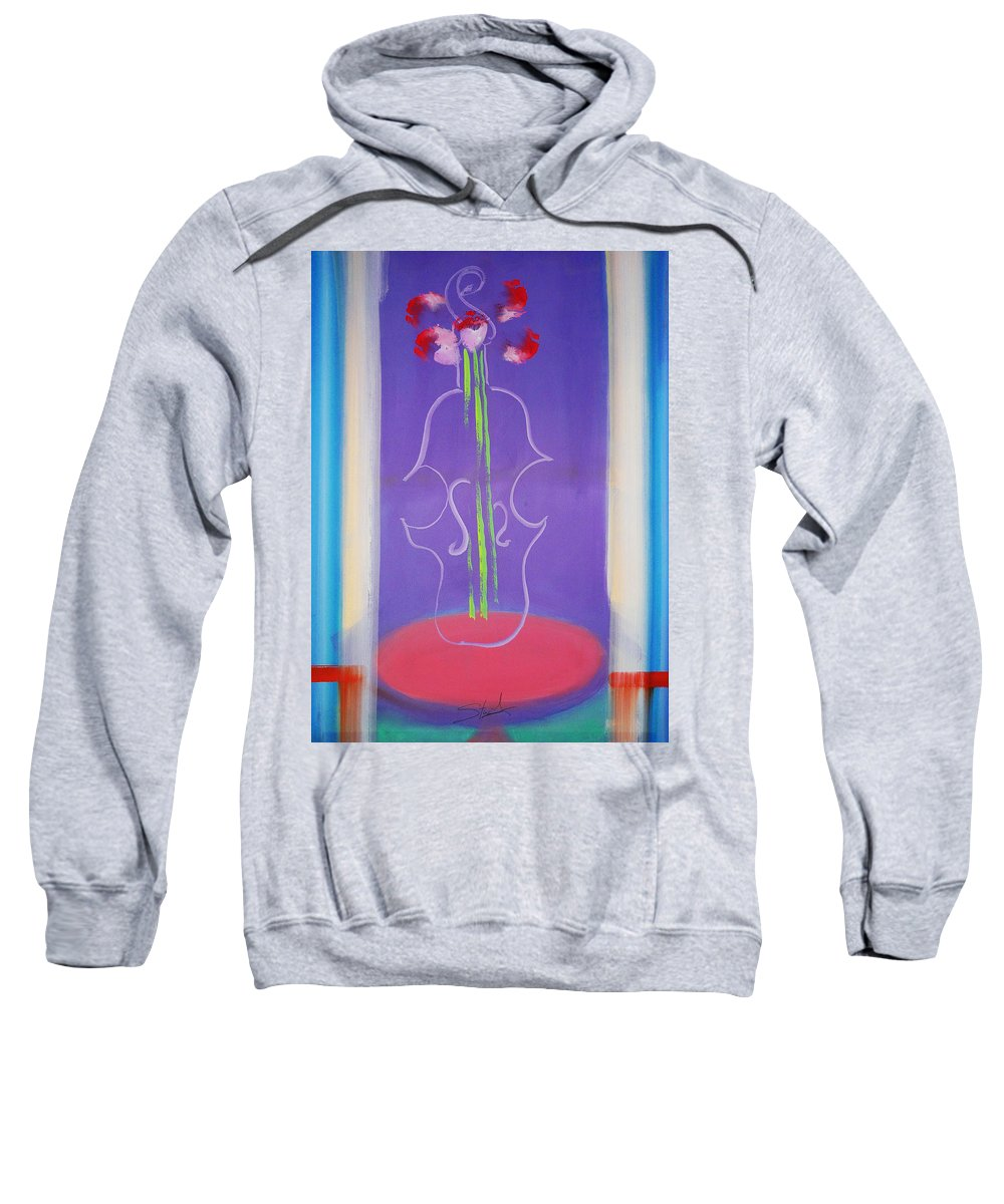 Violin Sweatshirt featuring the painting Violin Vase by Charles Stuart