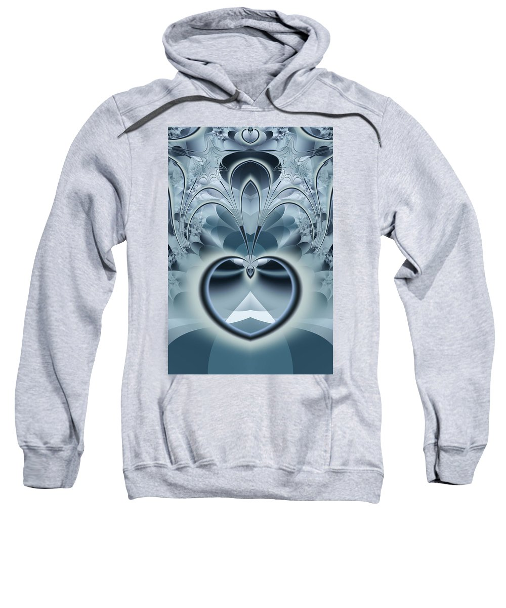 Fractal Sweatshirt featuring the digital art Vision by Frederic Durville