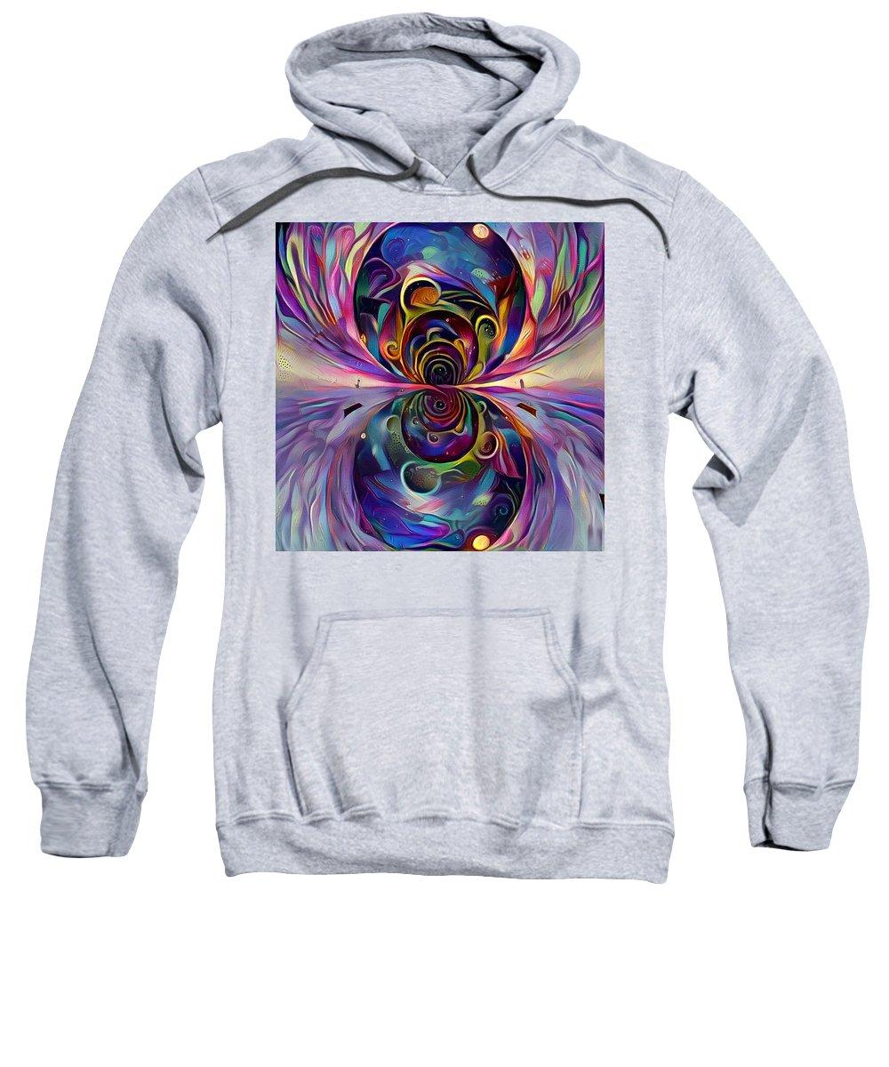 Multicolored Sweatshirt featuring the digital art Vivid Worlds by Bruce Rolff