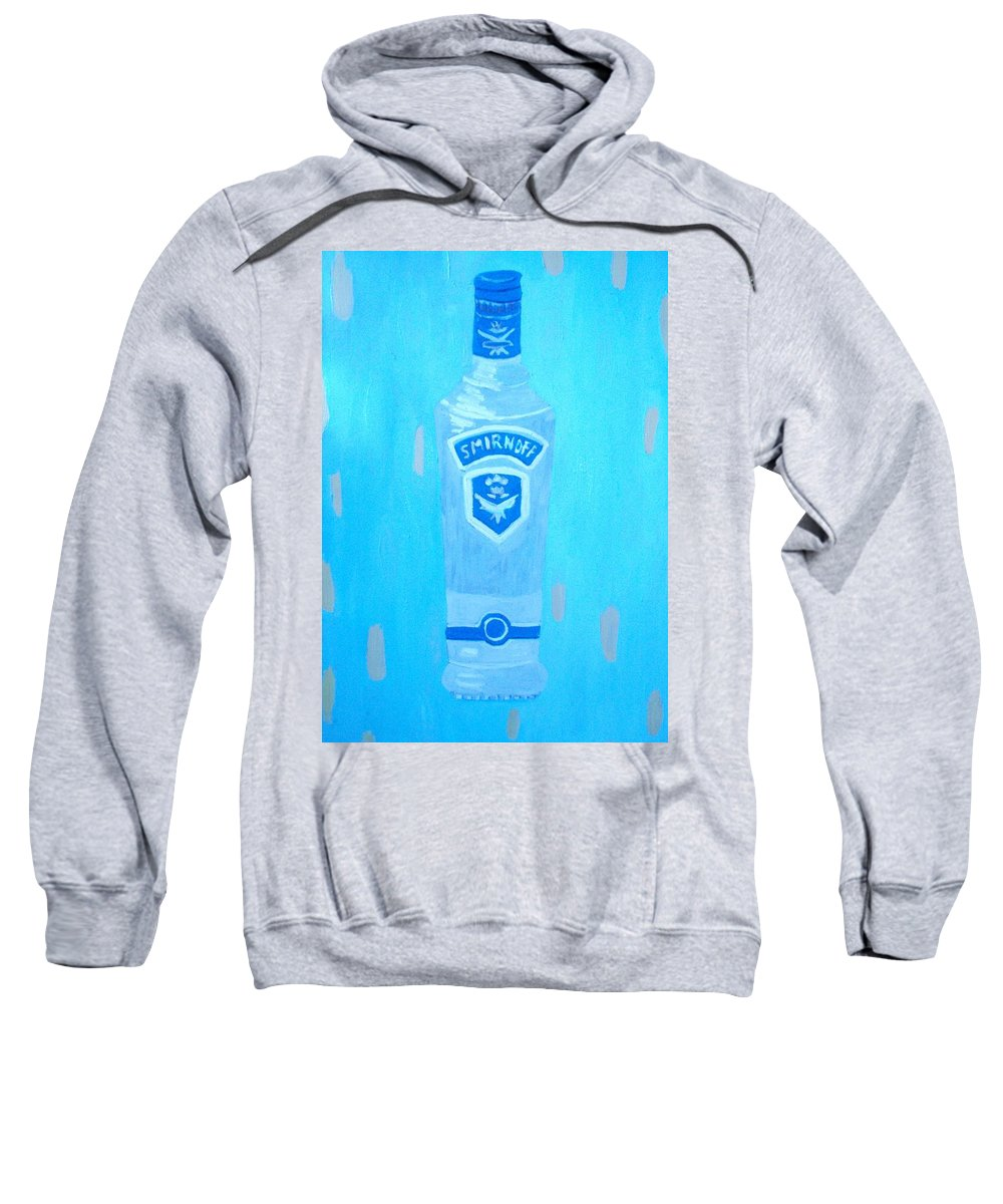 Pop Art Sweatshirt featuring the painting Vodka by Patrice Tullai