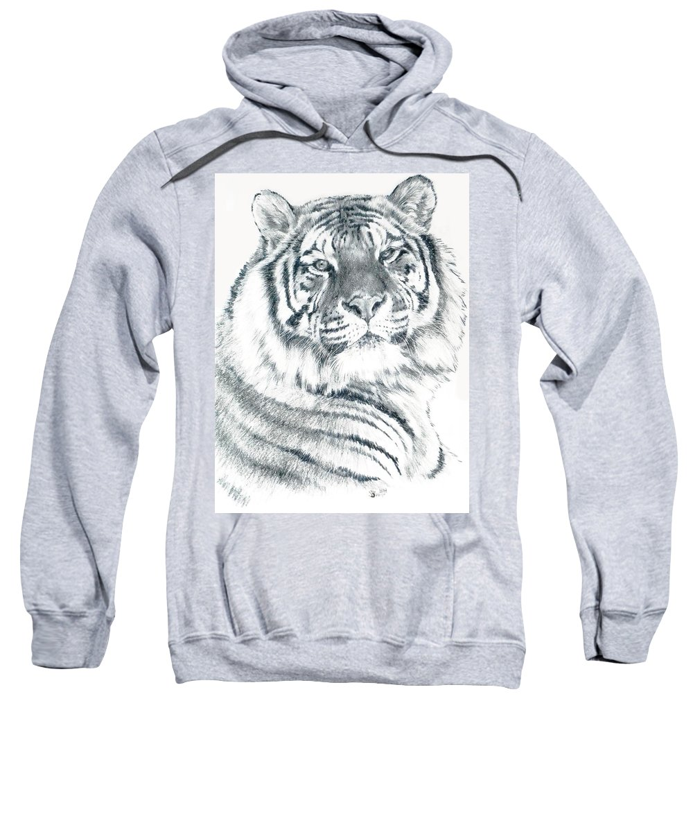 Tiger Sweatshirt featuring the drawing Voyager by Barbara Keith