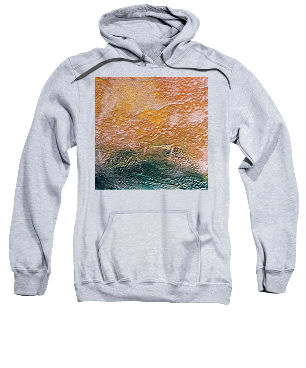 Encaustic Painting Sweatshirt featuring the painting W 013 by Dragica Micki Fortuna